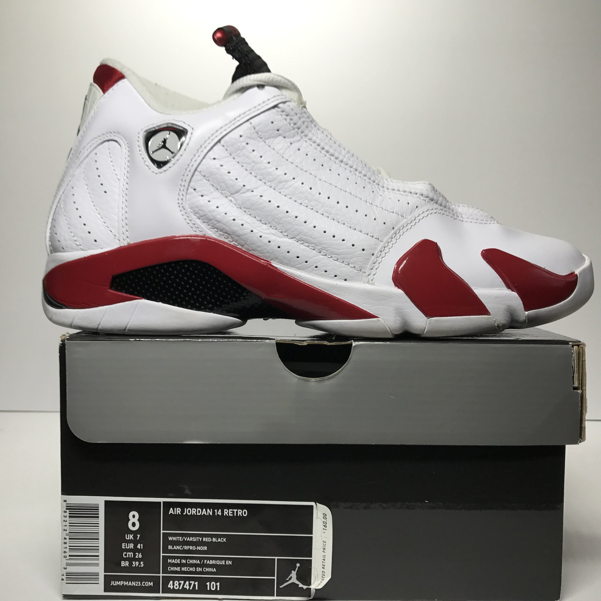 best cheap 557e2 50293 ... uk nike air jordan 14 xiv retro candy cane white red size 8 22947 0aa05  ...