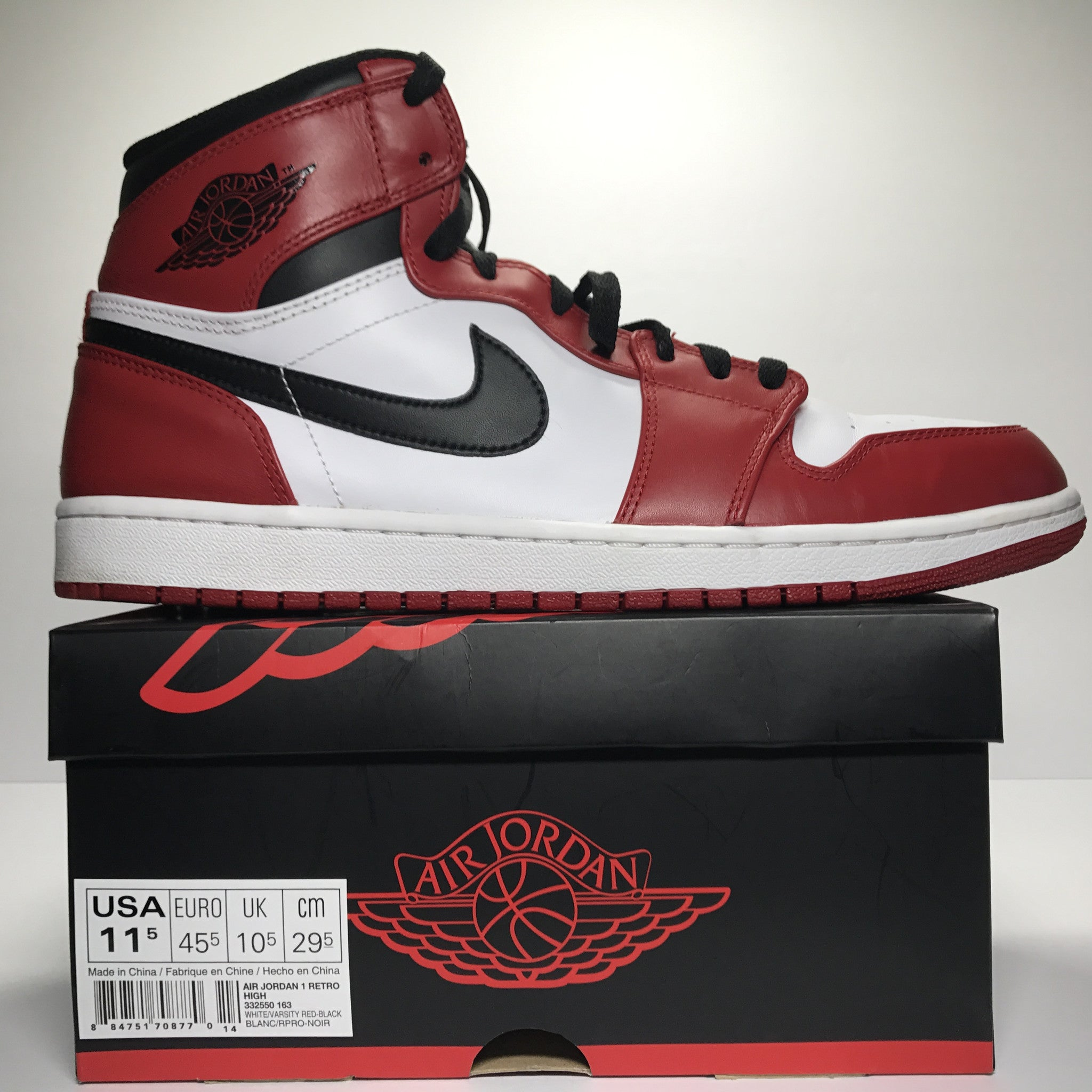 Nike Air Jordan 1 I Retro High OG Chicago 2013 Size 11.5