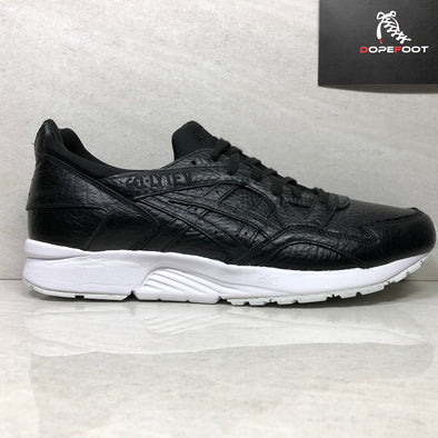 DS ASICS Tiger Gel Lyte V Size 13 Black Tumbled Leather HL703 9090