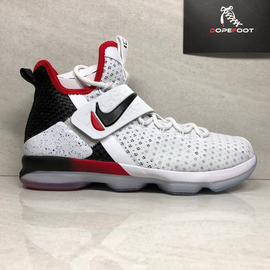 Nike Lebron XIV 14 (GS) Size 5Y/5.5Y/6Y/7Y Youth Basketball 859468 103 White/Black/ Red