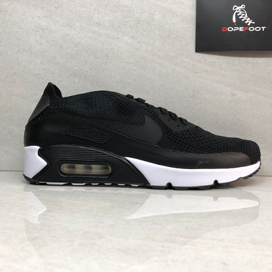 Nike Air Max 90 Ultra 2.0 Flyknit Men's Running Shoes Size 9/9.5/Size 10/10.5/Size 11/11.5/ Black/White 875943-004