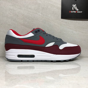 Nike Air Max 1 White/University Red/Grey AH8145 100 Men's Size 9.5/Size 14