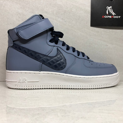 NIKE Air Force 1 High '07 LV8 806403-404 Mens Size 8/Size 9/Size 10.5 Ashen Slate/Obsidian-Summit White