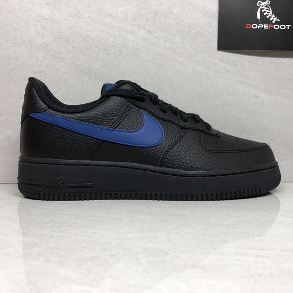 NIKE Air Force 1 '07 Men's Size 9 Black/Gym Blue AA4083 003