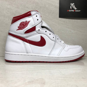 Nike Air Jordan 1 i Retro High OG White/Varsity Metallic Red 555088-103 Men's Size 10.5/Size 13
