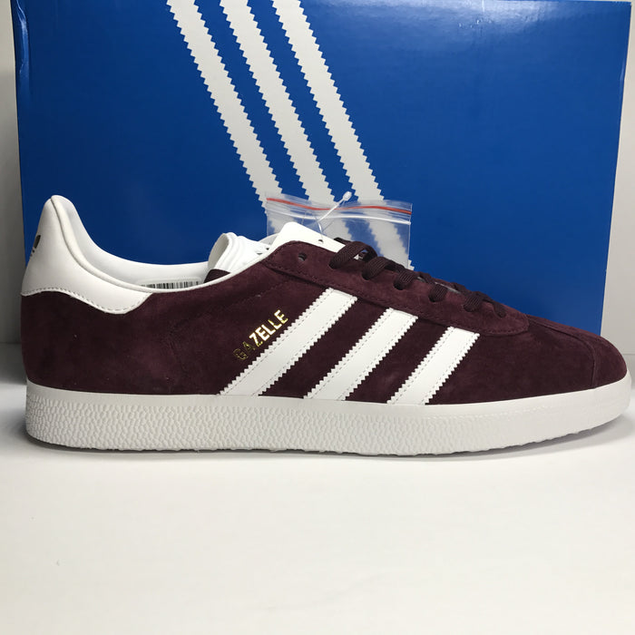 DS Adidas Gazelle Suede Maroon/White Size 12