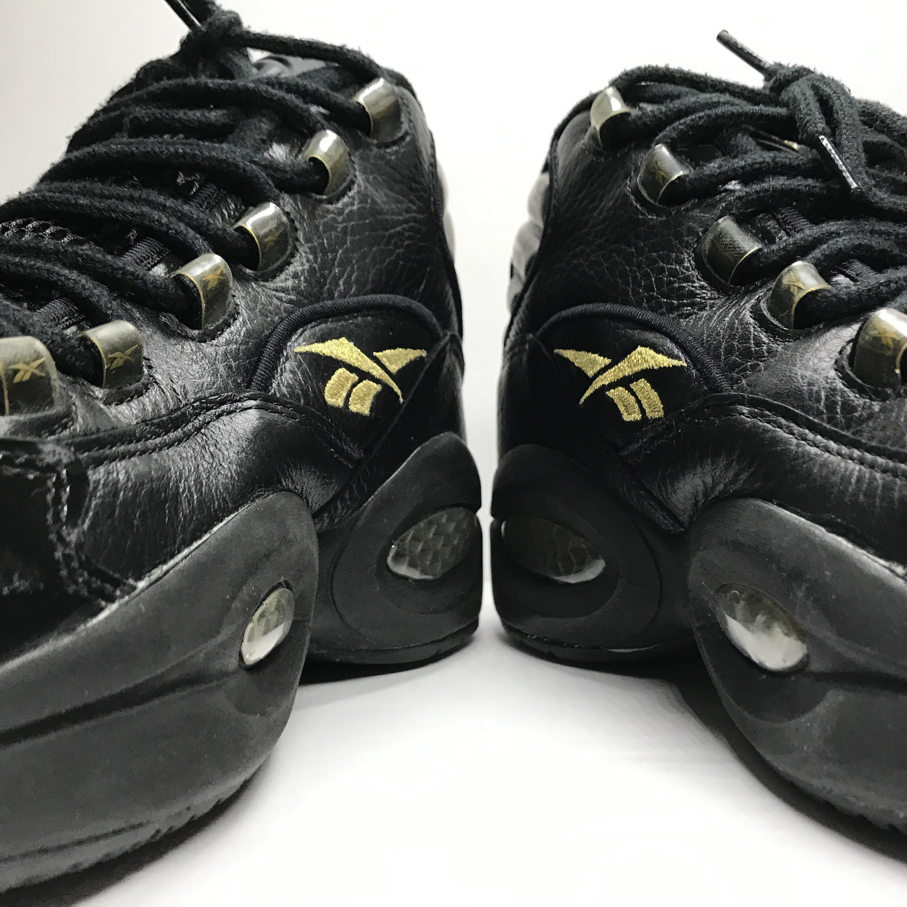 Reebok Question Mid Black/Gold Size 9