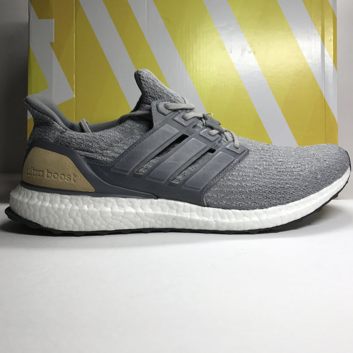 DS Adidas Ultra Boost 3.0 LTD Grey Leather/Tan Size 13