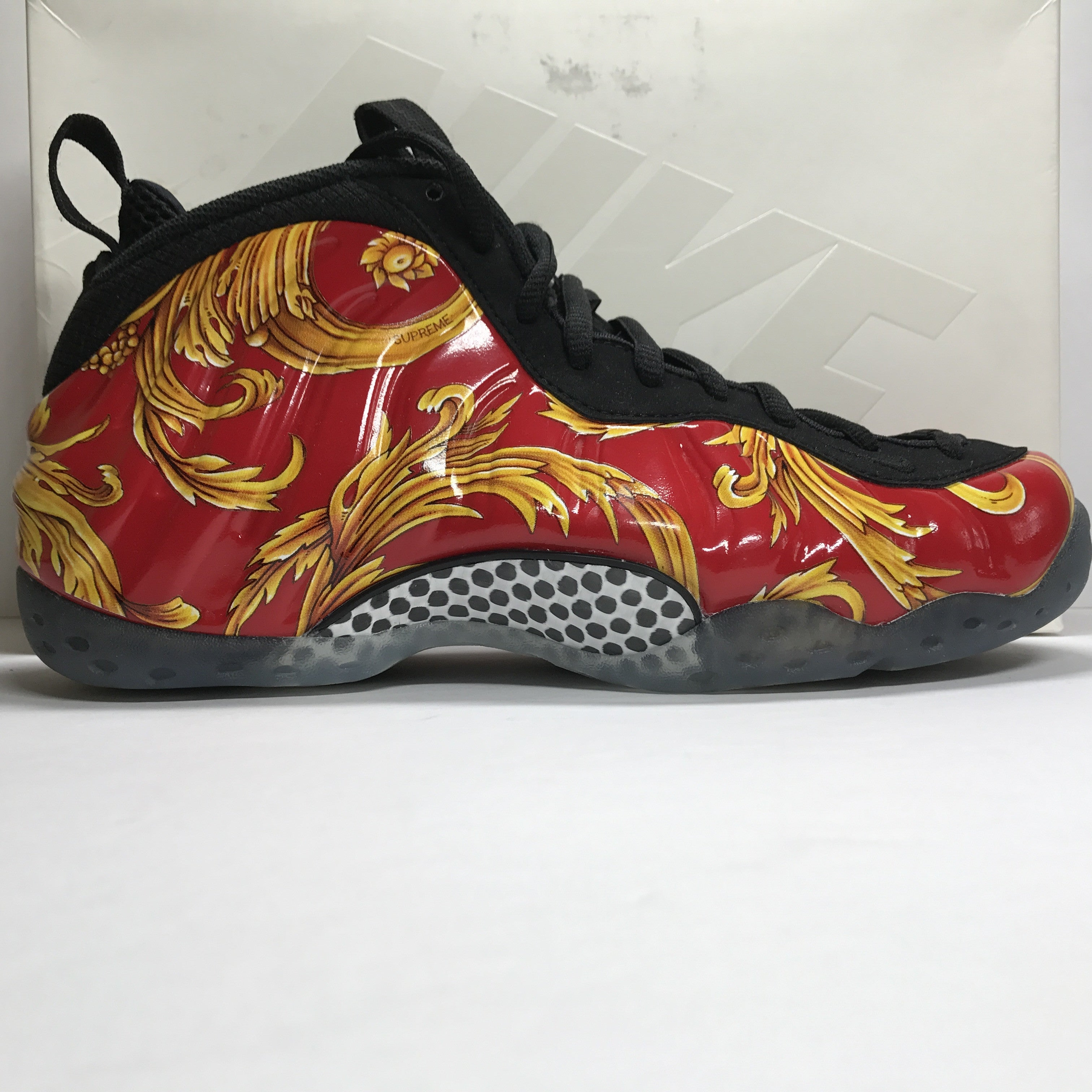 DS Nike Air Foamposite One 1 Supreme SP Sport Red/Gold Size 8.5