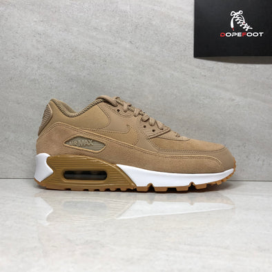 Nike Air Max 90 SE Women's Size 9.5 Light Brown/White 881105-200