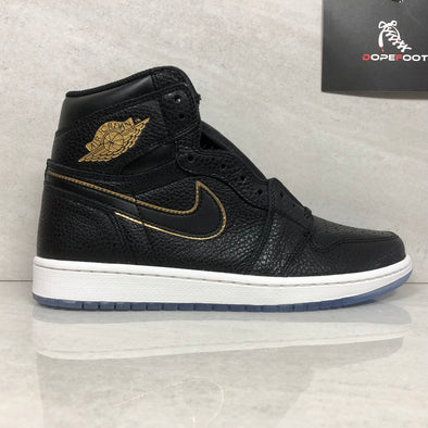 Nike Air Jordan 1 I Retro High OG 555088 031 Men's Size 9/Size 10.5/Size 11/11.5 Black/Metallic Gold Basketball Shoe 12 Men US