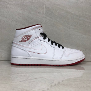 Nike Air Jordan 1 Mid 554724-103 Men's Size 8.5 White/Gym Red/Black