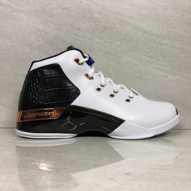 Nike Air Jordan 17 + XVII Retro 832816-122 Size 10 White/Mtlc Copper