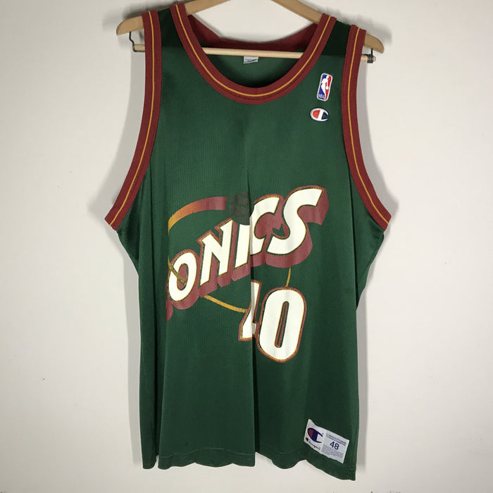 Seattle Supersonics Shawn Kemp Champion Jersey Size 48 XL