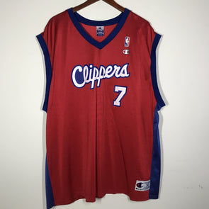 Lamar Odom Champion Jersey Los Angeles Clippers Size 52 XXL