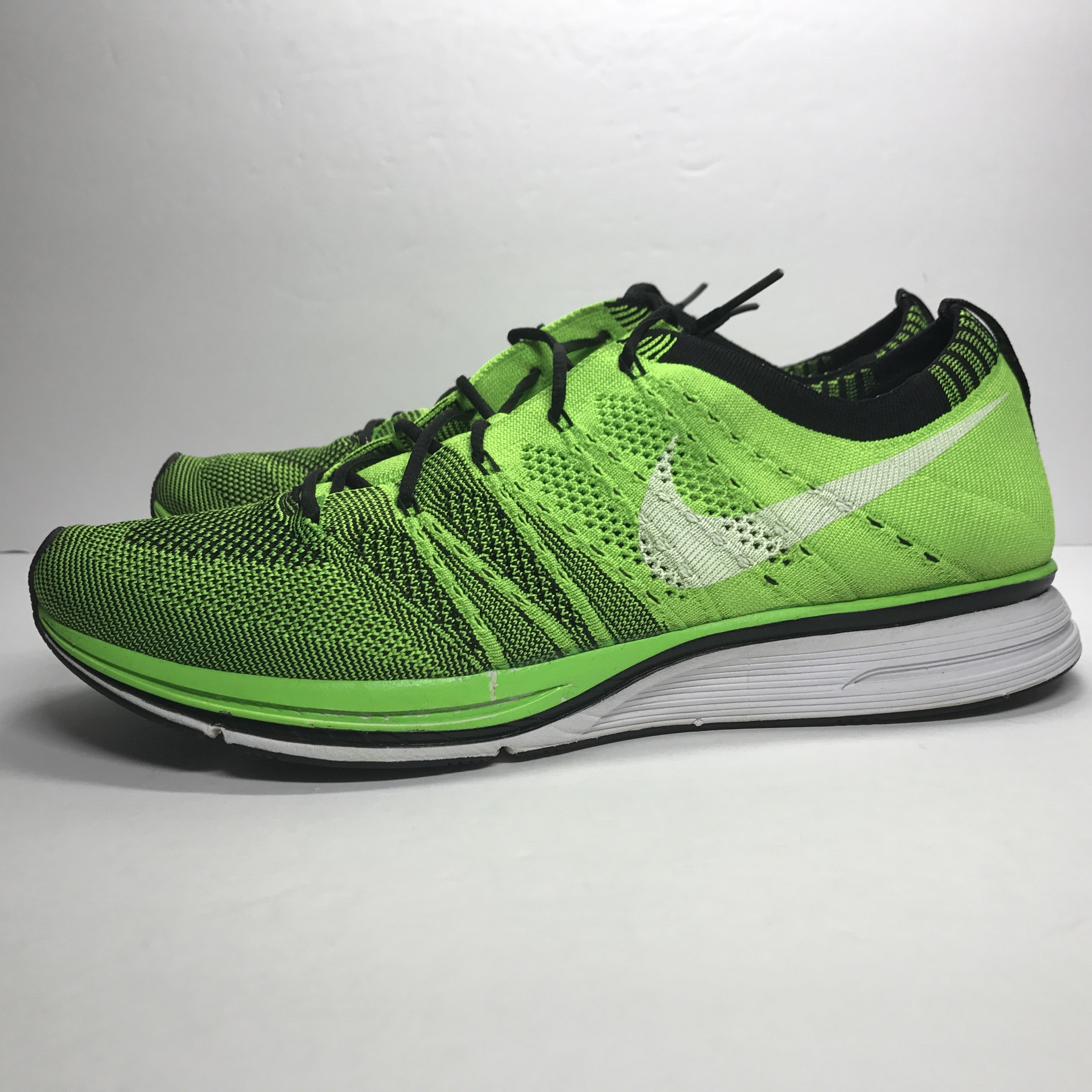 Nike Flyknit Trainer Electric Green Size 10.5