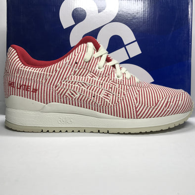 DS ASICS Gel Lyte III Classic Red Stripe Size 9.5