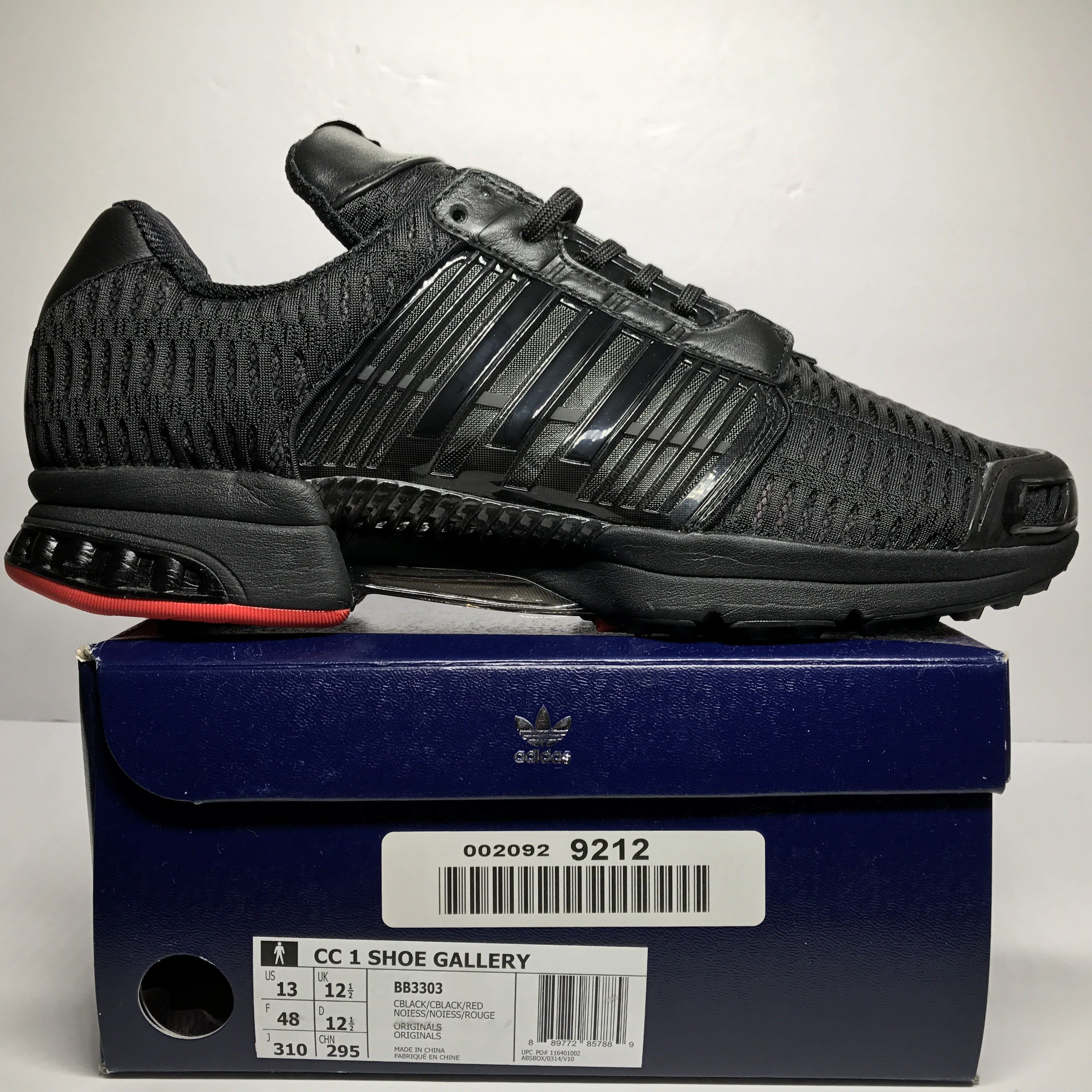 DS Adidas Consortium x Shoe Gallery Clima Cool Black/Red Size 13
