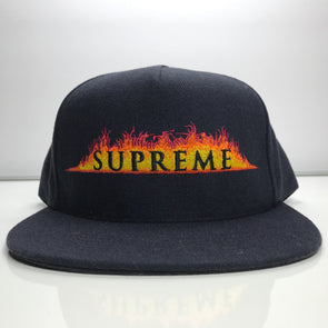 Supreme Annihilation 5 Panel Navy Blue Snapback Hat SS17
