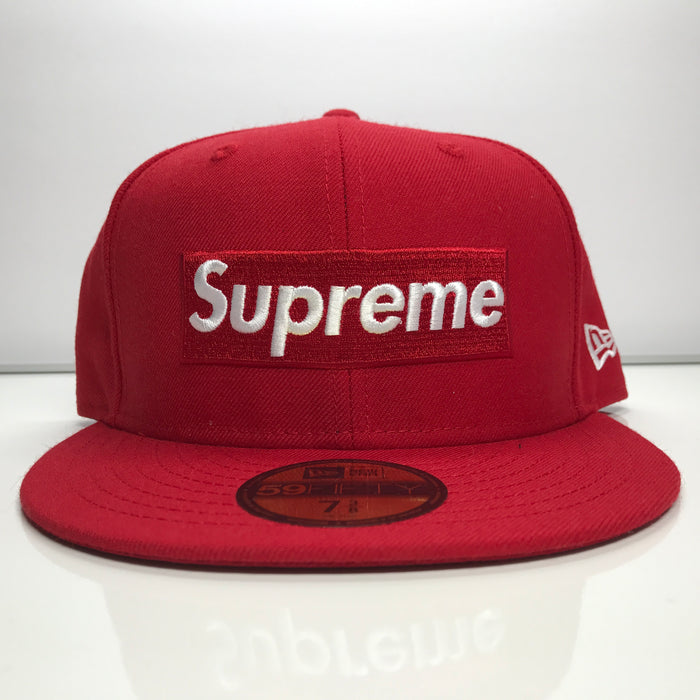 Supreme x Playboy Box Logo New Era Red Fitted Hat SS17 Size 7 3/8