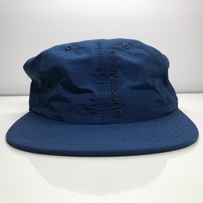 Supreme Tonal Vertical Logo 6 Panel Navy Blue Hat SS17