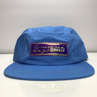 Supreme Iridescent Camp Cap Light Blue Hat SS17
