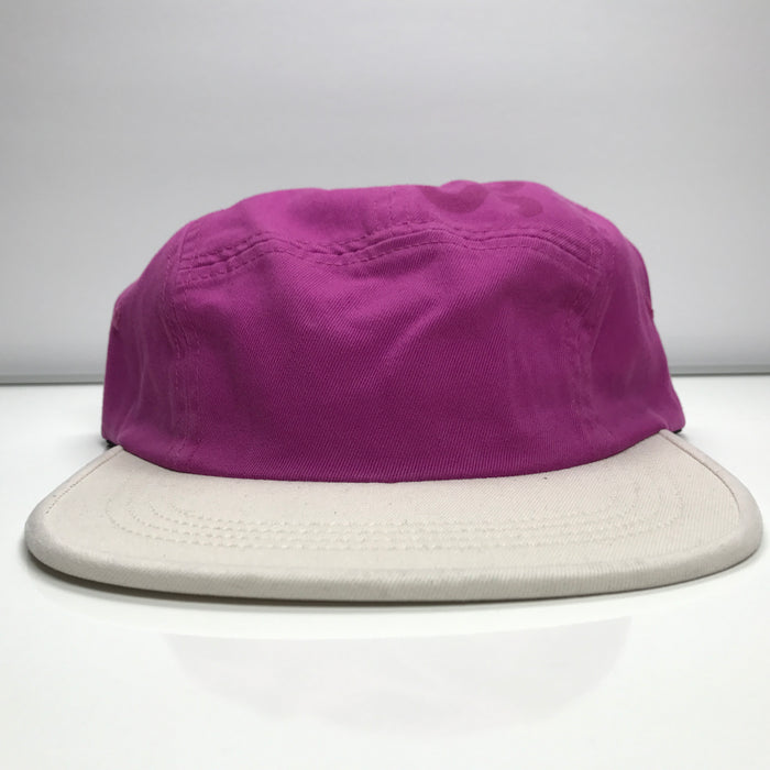 Supreme 2 Tone Twill Top Panel Camp Cap Hat SS17 Magenta Pink
