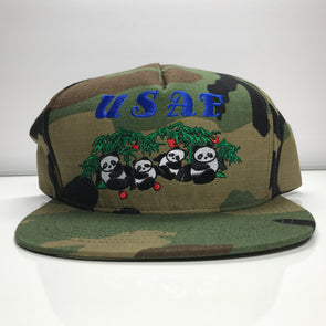 Supreme Pandas 5 Panel Woodland Camo Cap Hat SS17