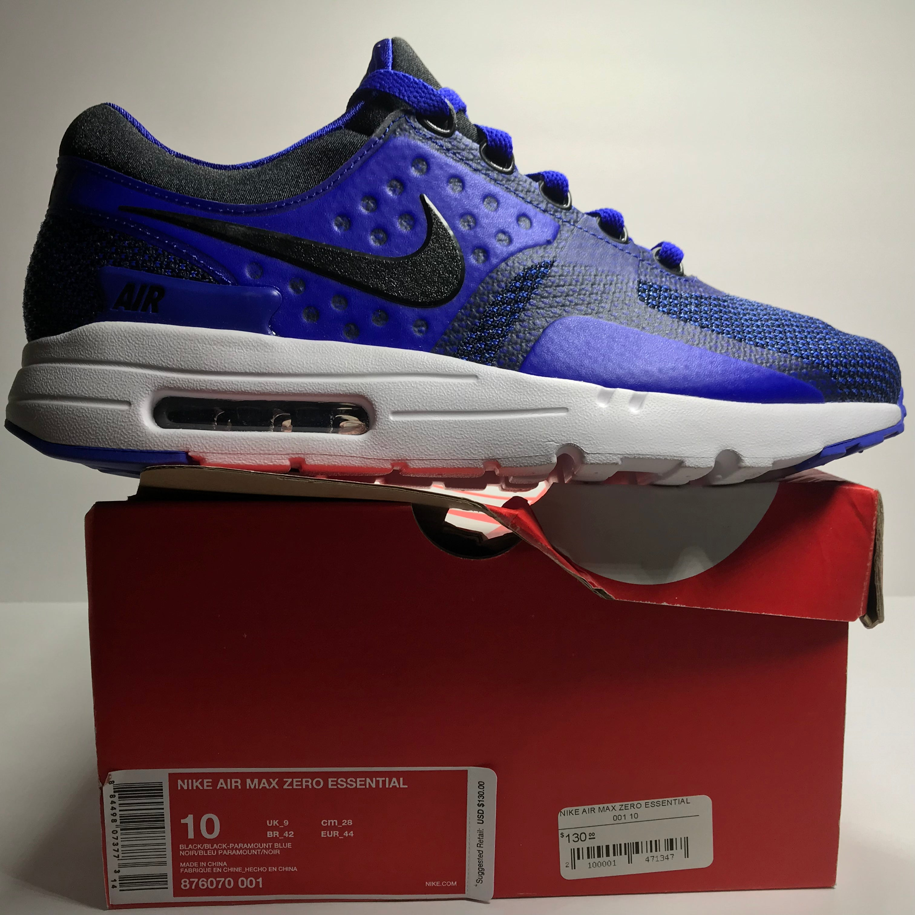 huge selection of 2d227 e5c7b ... amazon ds nike air max zero essential royal blue size 9.5 size 10 5c68a  f4308