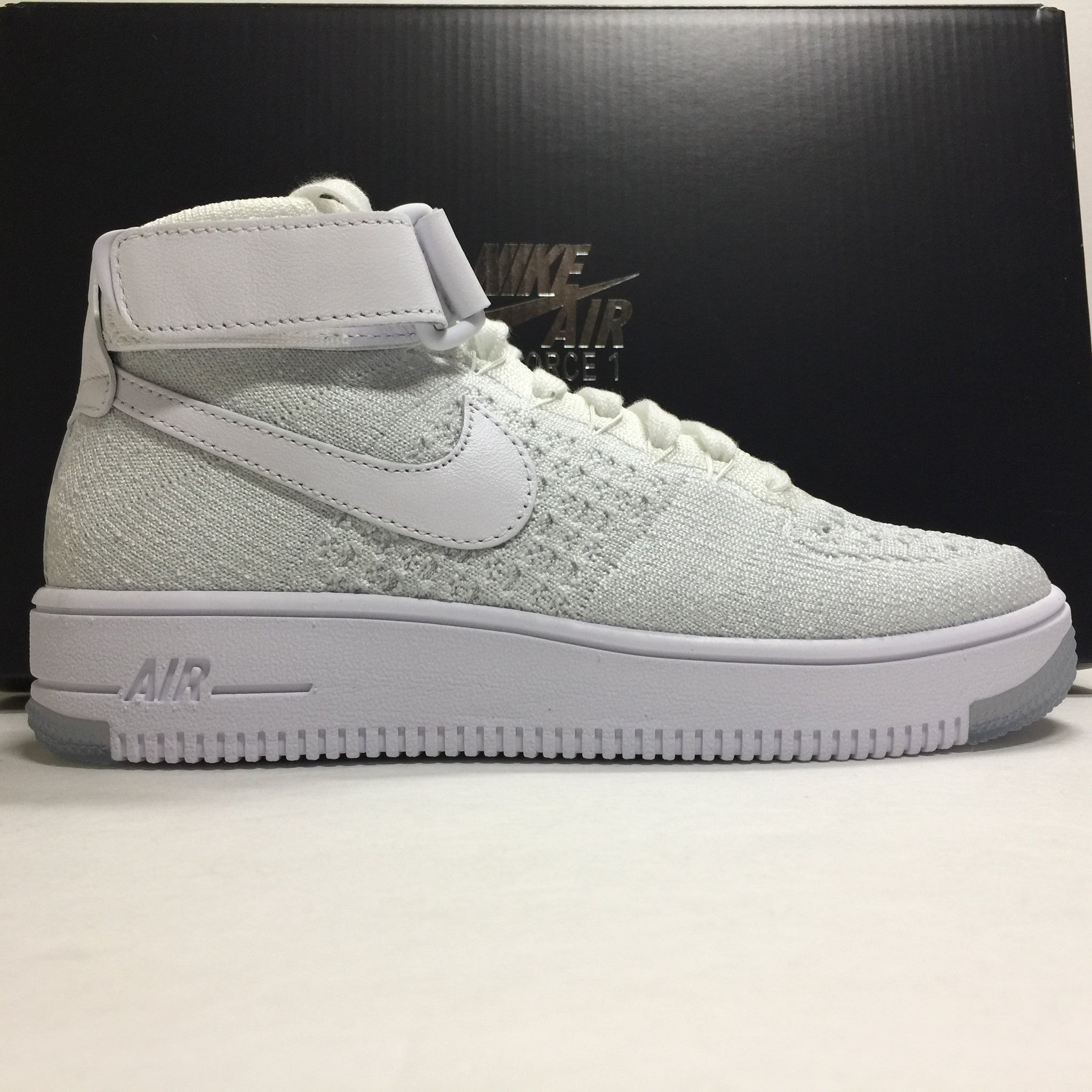 DS W Nike Air Force 1 Flyknit High White Size 6/6.5/Size 7.5 - DOPEFOOT  - 1