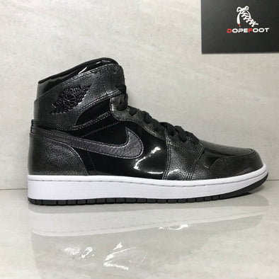 DS Nike Air Jordan 1 Retro High Patent Leather Black/Grey Size 8.5/Size 9/Size 10/Size 12/Size 13