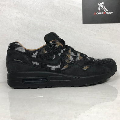 DS Nike Air Max 1 QS Pendleton Black Size 9.5