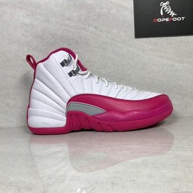 DS Air Jordan 12 XII Retro GG White/Vivid Pink Size 3.5Y