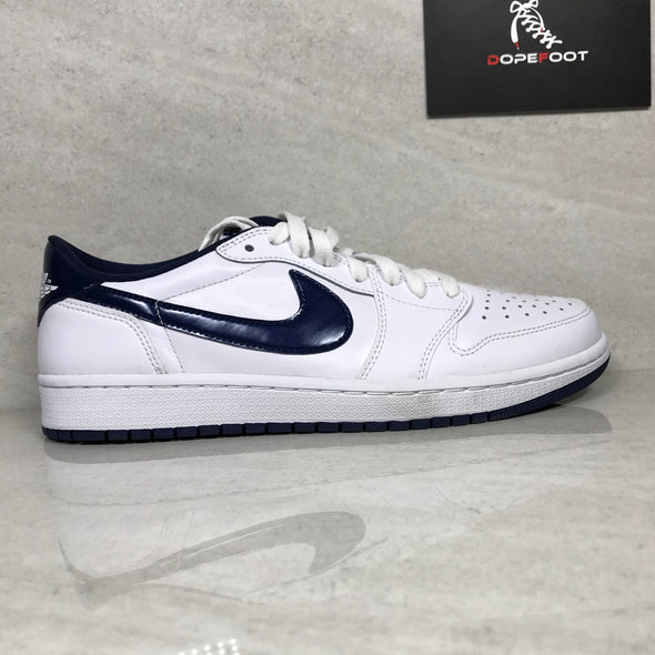 DS Air Jordan 1 I Low OG White/Midnight Navy Size 9