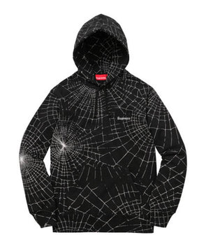 Supreme Spiderweb Hooded Sweathsirt Black Size M FW16