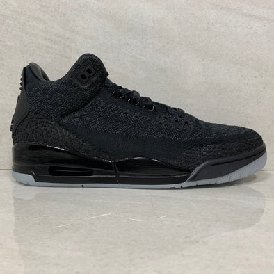 Air Jordan 3 III Retro Flyknit Black- Aq1005-001 - Men's Size 9.5/Size 10 - Glow In The Dark