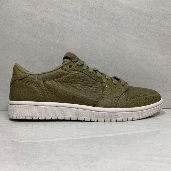 Air Jordan 1 I Retro Low Swooshless Trooper Olive Green - 848775 205 - Size 8.5/Size 10