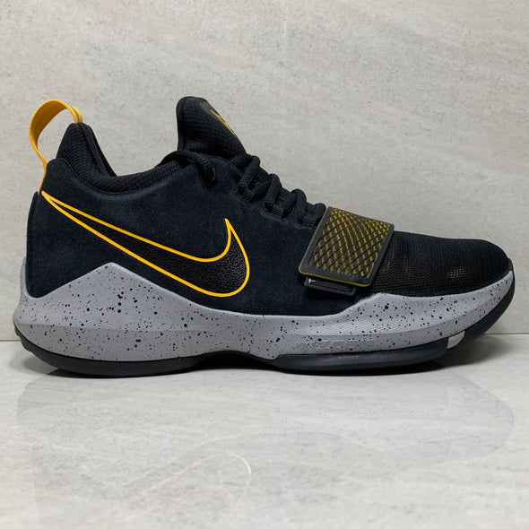 Nike Basketball PG1 - 878627-006 - Men's Size 10 Black / University Gold