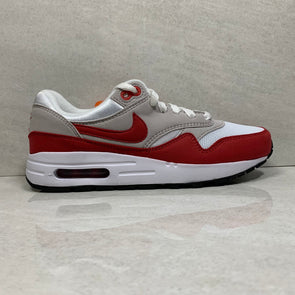 Air Max 1 QS GS 2017 White/Red - 827657 101 - Youth Size 5Y