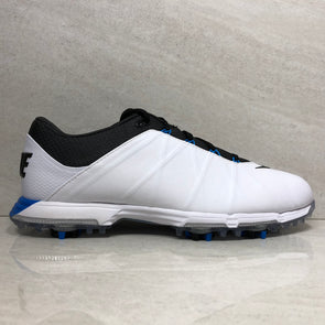 Nike Lunar Fire Leather Golf Shoes 853738 100 Men's Size 9.5/13 White/Anthracite/Photo Blue