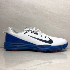 Nike Lunar Command 2 Golf Shoes 849968 103 Men's Size 12 White/Armory Navy-Blue Jay/Solar Red