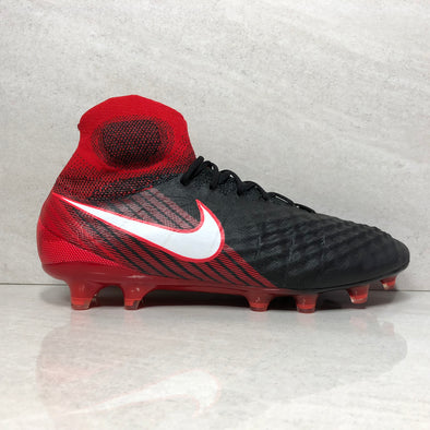 NIKE Magista Obra II FG Men's Soccer Cleats Size 7.5/Size 8/Size 10 Black Red