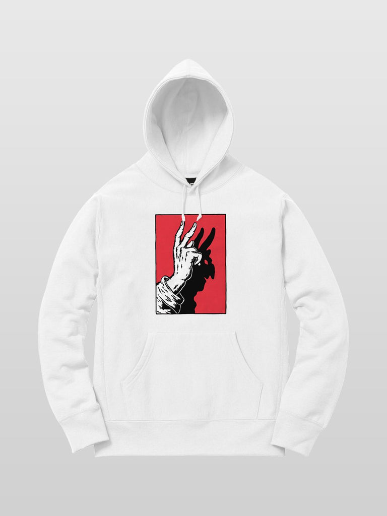 Idle Hands Hoodie - White
