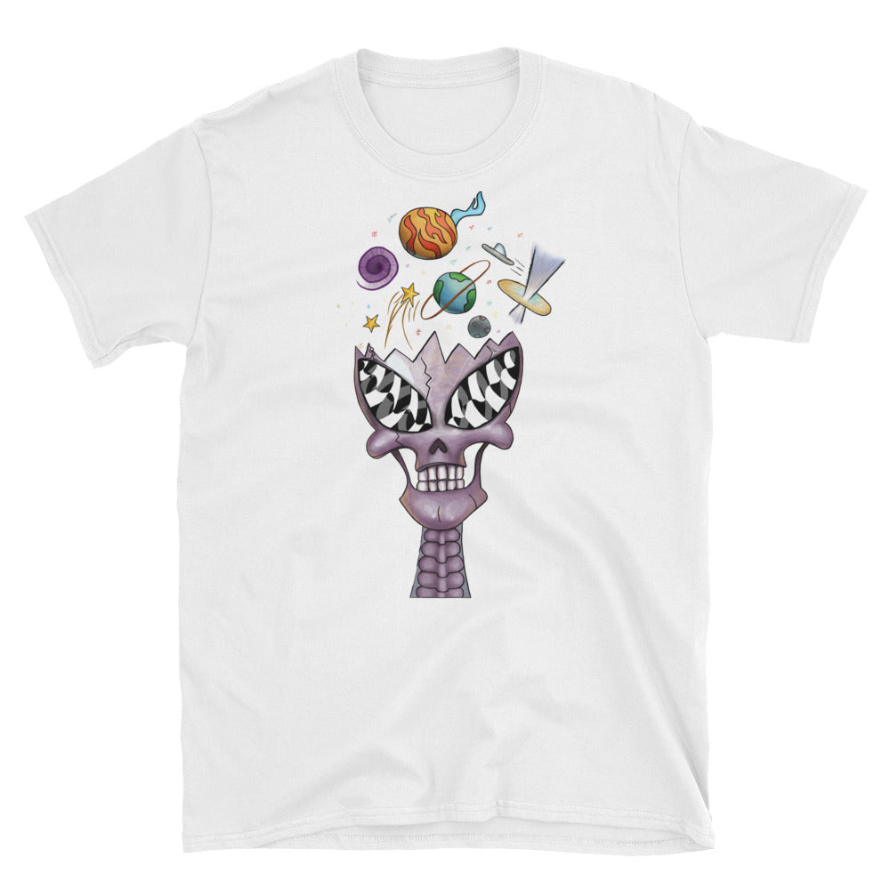 Purple Crystal Alien Skull T-Shirt