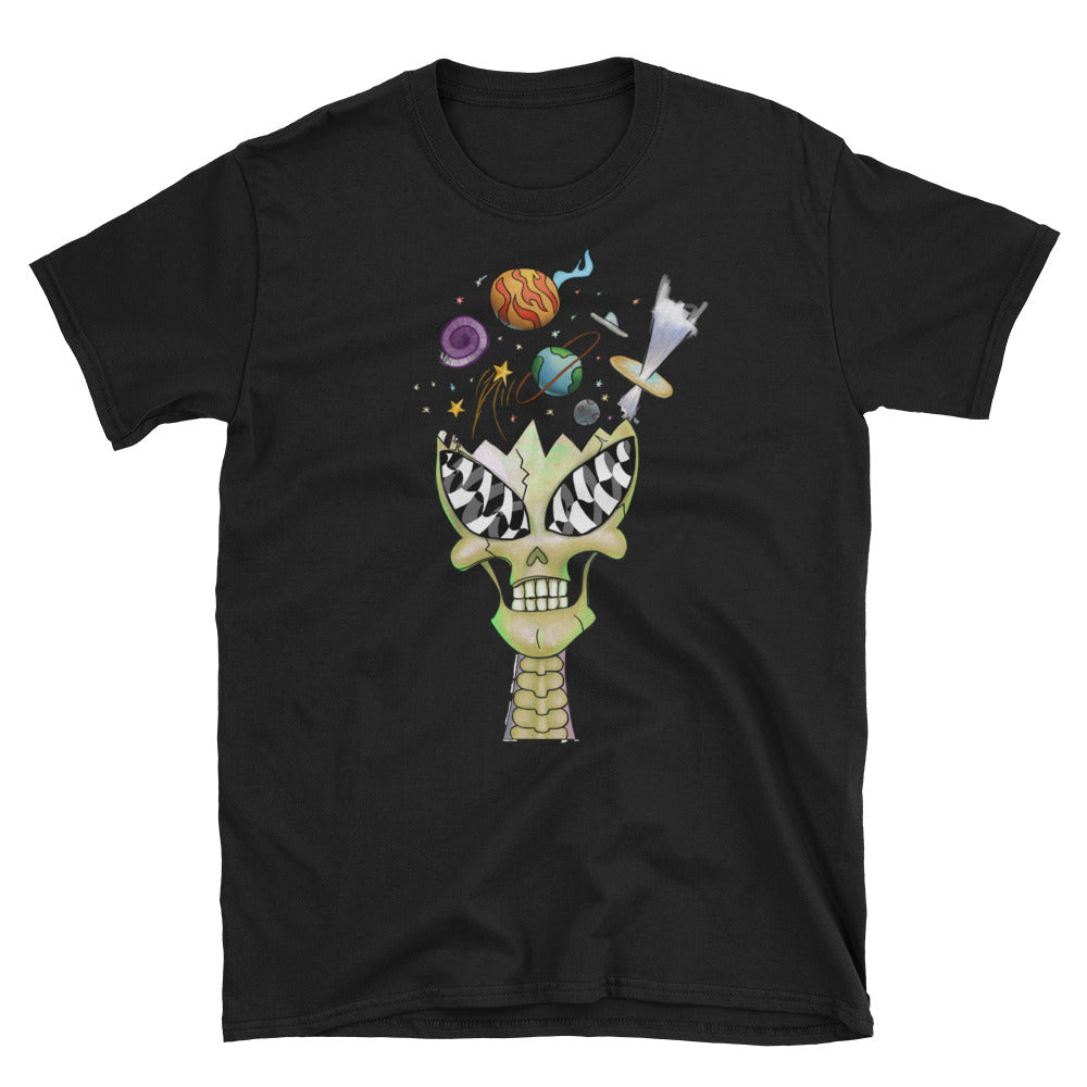 Crystal Alien Skull Short-Sleeve T-Shirt