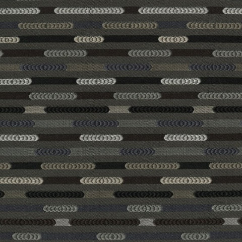 Designtex Nexus Granite Colorful Gray Stripe Upholstery Fabric