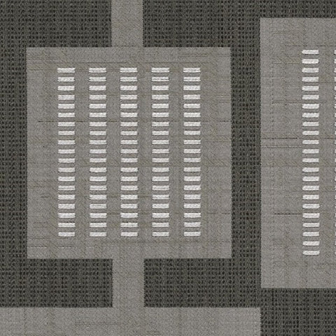 Designtex Urban Grid Coal Gray Upholstery Fabric