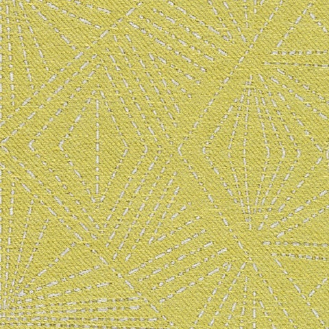 Designtex Starburst Yellow Green Upholstery Fabric