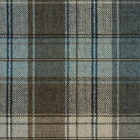 Designtex Plaid Loon Designer Blue Upholstery Fabric