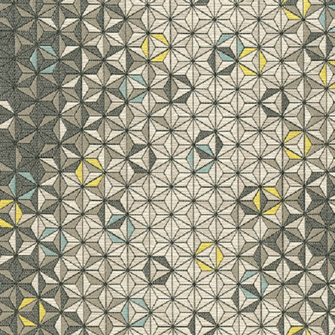 Brentano Nova Lyra 3D Triangles Gray Upholstery Fabric